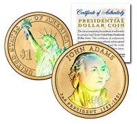 HOLOGRAM 2-sided 2007 JOHN ADAMS Presidential $1 Dollar U.S. President Coin