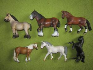 Schleich 6x Pferde Shire Dressurpferd Haflinger u.a. aus Sammlungsauflösung