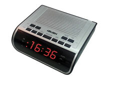 Bush CR395 Red Display Silver Alarm Clock Radio AM/FM C75
