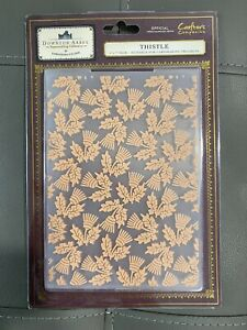 """crafters companion embossing folder DOWNTOWN ABBEY COLLECTION """"thistle"""". new"""