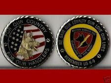K9 Handlers Army Navy Marine Air Force Challenge Coin S
