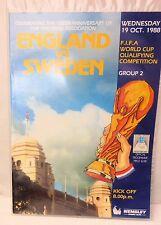 ENGLAND v. SWEDEN  WORLD CUP QUALIFIER 1988 WEMBLEY STADIUM