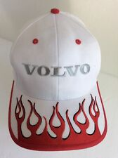 VOLVO Strapback Hat Cap - White & Red Embroidered Flame - Rare