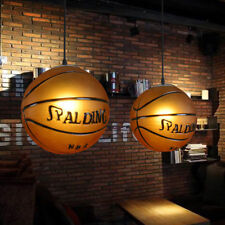 1 Lamp Classic Orange Basketball Creative Hanging Pendant Lights Glass Fixtures