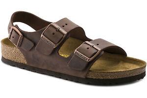 Birkenstock Milano Oiled Leather in Habana (Art:0034871) - Cork Sandals