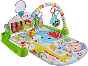 Fisher-Price Kick and Play Piano Gym, New-Born Baby Play Mat with Activity Centr