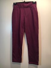 Talbots Women's Pull-on Purple Straight Style Exercise Pants Size P