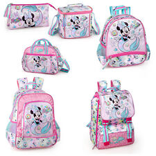 Disney Minnie Mouse Mermaid Backpack School Bag Travel Rucksack Kids Lunch Bag