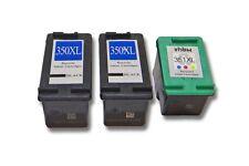 3x XXL CARTUCHO TINTA negro y color para HP 350 XL 351 XL Photosmart C4593 C4599