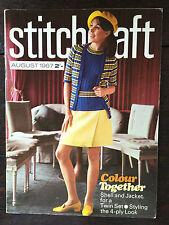 Stitchcraft Magazine: August 1967, Family Patterns,  + Other Crafts