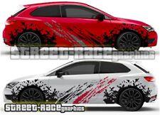 Seat Leon FR Cupra Rally 001 grunge mud splatter graphics stickers decals vinyl