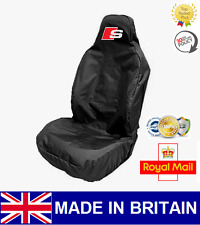 AUDI S-LINE CAR SEAT COVER PROTECTOR SPORTS BUCKET HEAVY DUTY  - FITS A5