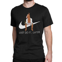 BoJack Horseman Funny T-shirt, 'Just Do It Later' Tee, Men's Women's All Sizes