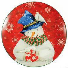 Barb Tourtilotte Plate Santa Red Christmas Ornament Holiday Decoration