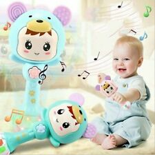 Infant Kid Newborn Baby Cartoon Musical Rattle Teether Stick Early Learning Toys