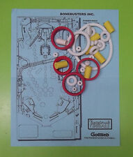 1989 Gottlieb / Premier Bone Busters Inc. pinball rubber ring kit