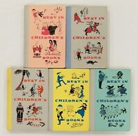 """""""Best in Children's Books"""" by Nelson Doubleday Vintage 1958-1959 Lot of 5"""