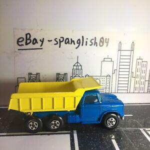 Vintage Lesney Matchbox #48 Superfast Dodge Dumper Truck Rare Blue Yellow MINT