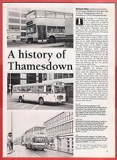 Buses Magazine Extract ~ Thamesdown Transport - Swindon: History to date - 1992