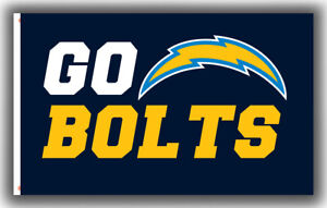 Los Angeles Chargers GO BOLTS Football Memorable Flag 90x150cm 3x5ft best banner