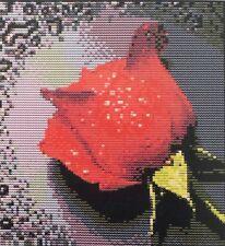 Stickpackung Kreuzstich ROTE ROSE 26x27 cm, Sticken Handarbeiten Zählmuster