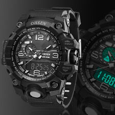 Ohsen Digital G Sport Quartz Military Watch Chronograph Water Proof Shock Black
