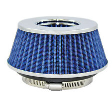 """Small Blue Univeral Cone Intake Air Filter 2.625"""" L x 6"""" W Inlet 3"""" 3.5"""" Or 4"""""""
