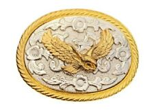 Eagle Belt Buckle Buckles Two-toned Gold & Silver