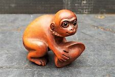 "antique japanese netsuke "" The Monkey with his nut """