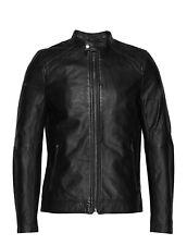 Superdry men's Lightweight Leather Racer Jacket Size 2XL £199.99