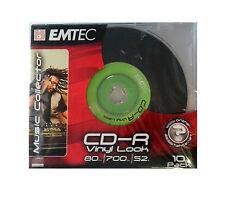 EMTEC CD-R80/10SLIM CD REGISTRABILE -R 52X VINYL LOOK SLIM CONF. 10 PZ