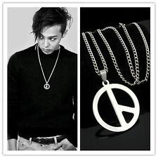 NEW Bigbang GD G Dragon Peaceminusone Same Necklace Unisex Titanium Pendant Kpop