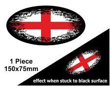 OVALE FADE TO BLACK St Georges Cross Inghilterra Bandiera Vinile Auto Adesivo Decalcomania 150mm