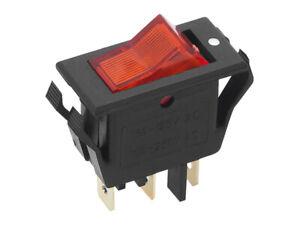 MK111 Kippschalter Ein / Aus Beleuchtet 10A 250VAC  3-polig