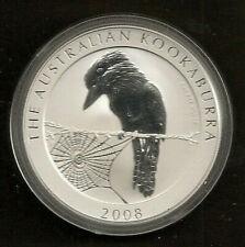 Australien 1 Unze Silber Kookaburra  2008 Stempelglanz !!
