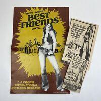 Vintage Pressbook Clippings Best Friends Movie 1975 Suzanne Benton Richard Hatch