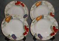 Set (4) Charter Club Casuals SUMMER GROVE PATTERN Rimmed Soup and Pasta Bowls