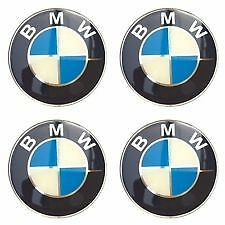 4 X 65mm BMW Rueda Pegatinas insignias Center Caps E30 E36 E46 1 2 3 4 5 6 7 8 X3 X5