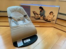 with BOX BABYBJORN Balance Soft Bouncer Cotton Khaki/Beige Excellent Condition