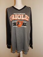 Unisex Black & Gray T-Shirt Top - BALTIMORE ORIOLES - Size 2XL - Baseball, MLB