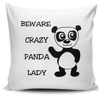 Warning a LOOPY HAMSTER LADY Funny Novelty Cushion Cover