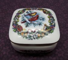 HERITAGE HOUSE MELODIES OF CHRISTMAS JOY TO THE WORLD FINE PORCELAIN MUSIC BOX