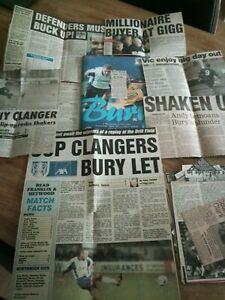 Bury v Northwich Victoria FAC 00-01 Football Programme + Press Cuttings