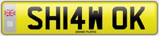 Shaw Número De Matrícula Shaws acariciado car registration SH14 Wok asignación honorarios pagados