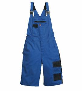 Kurze Arbeitshose Latzhose Arbeitslatzhose Shorts blau u. schwarz Gr. 44 - 64