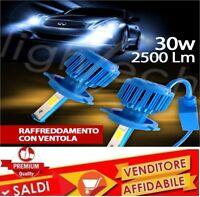 COPPIA LAMPADE FARI AUTO LED SYSTEM H4 6000k 6S 30W VENTOLA DI RAFFREDDAMENTO