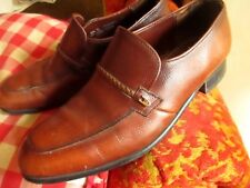8.5 D Vintage UNION MADE Loafers/Shoes Leather Slip On Dress Shoes