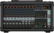 Behringer PMP2000D mint 14-Channel Powered Mixer Board 2000W Amplified,Effects
