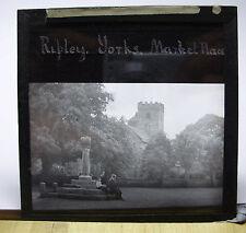 c1900s RIPLEY Market Place - Yorkshire - Glass Lantern Photo Slide