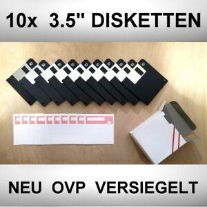 NEU OVP VERSIEGELT 10er Pack 3.5 Zoll Disketten 1.44 MB HD Double Side DOS Retro
